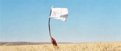 White flag of surrender