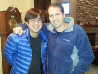 Jason with Chinese friend
