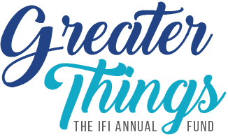 Greater Things - The IFI Annual Fund logo