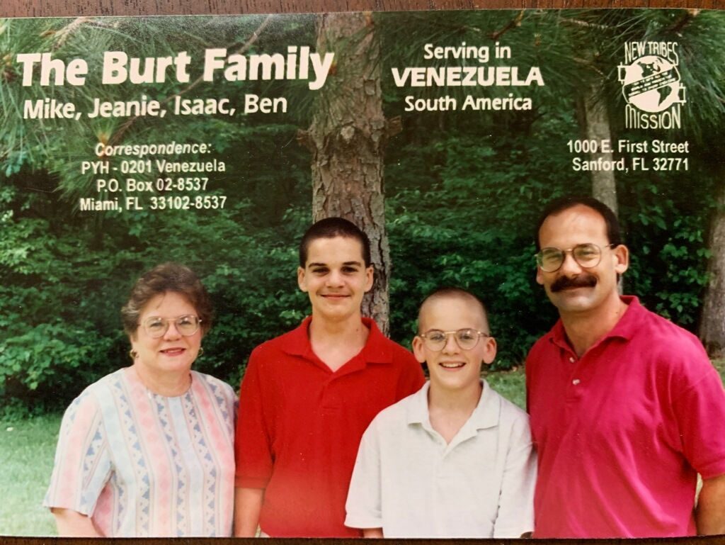 Mike Burt and his family in 1996